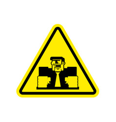 Attention angry boss chief to yellow triangle vector