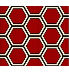 Seamless hexagonal pattern vector