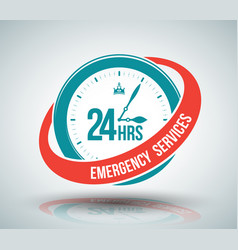 24 hours services banner vector