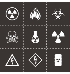 Danger icons set vector