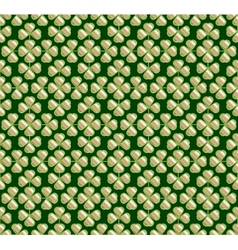 Abstract seamless green trefoil pattern vector