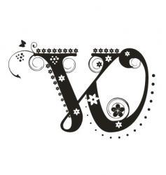 w vector image
