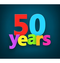 Fifty years paper sign vector