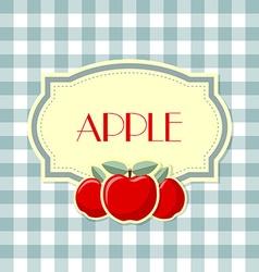 Retro apple label vector