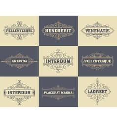 Pack of labels and banners vector