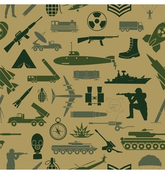 Military background seamless pattern military vector