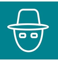 Hacker mask vector