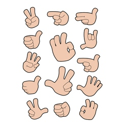 collection of gestures vector image