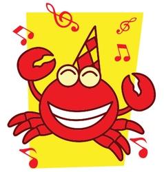 Crab full music vector