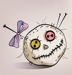 Pincushion with eyes vector