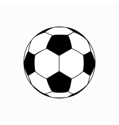 Soccer ball icon isometric 3d style vector