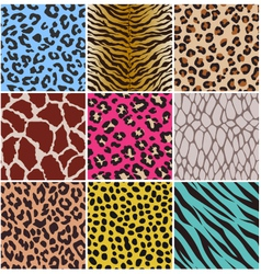 Seamless animal skin fabric pattern vector