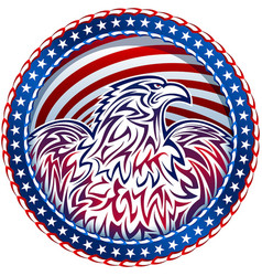 american eagle natioal symbol usa fourth july vector image