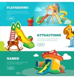 banners set of children playground vector image vector image