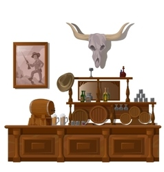 Bar in wild West style decor location vector image