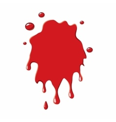 Blood stain icon vector