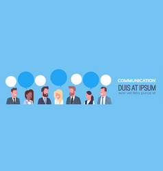 business people group communication concept team vector image vector image
