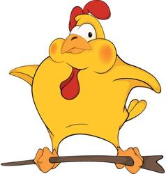 Chicken cartoon vector image