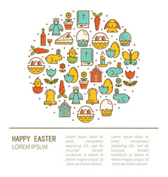 commercial easter vector image vector image