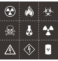 Danger icons set vector