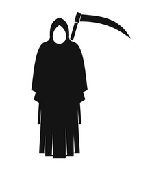 death with scythe icon simple style vector image