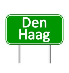 Den haag road sign vector