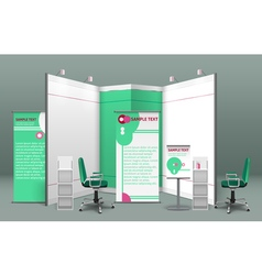 Exhibition stand concept vector