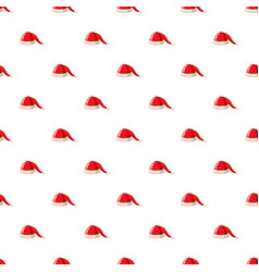 Hat with pompom of santa claus pattern vector