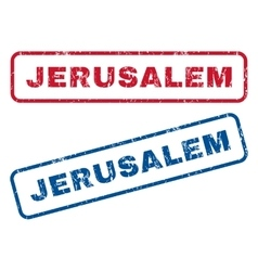 Jerusalem rubber stamps vector