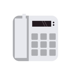 Landline telephone icon vector
