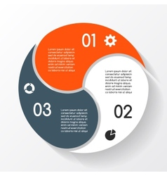 Modern info graphic for business project vector image