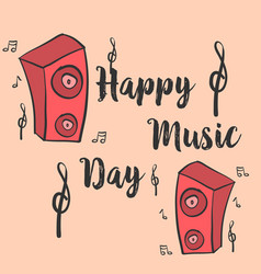 Music day card style art collection vector