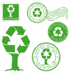 recycled icons vector image vector image