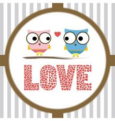 Romantic card2 vector image vector image