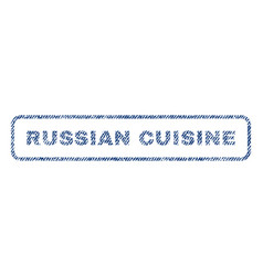russian cuisine textile stamp vector image vector image