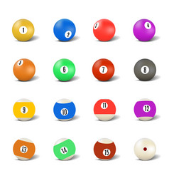 Set of balls for playing pool vector