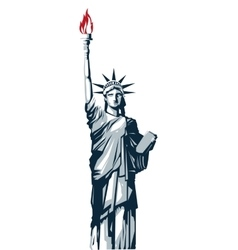 Statue of liberty icon vector