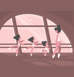 studio of ballet school vector image