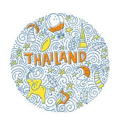 Thailand symbols vector