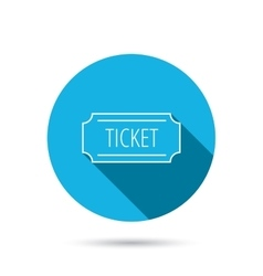 Ticket icon Coupon sign vector image