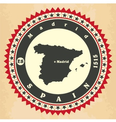 Vintage label-sticker cards of Spain vector image