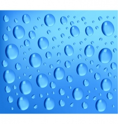 water drops blue background vector image vector image