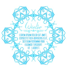 watercolor snowflake on white background vector image vector image
