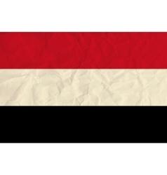 Yemen paper flag vector image