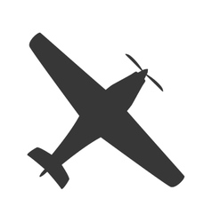 Airplane transportation delivery travel icon vector