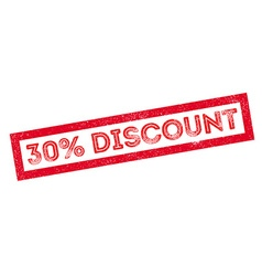30 percent discount rubber stamp vector