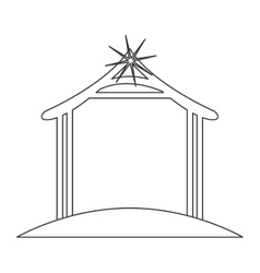 Hut of holy night design vector