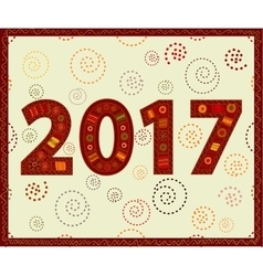 Happy new year 2017 handmade vector