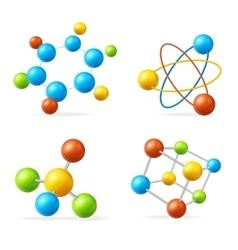 Colorful Molecule Set vector image