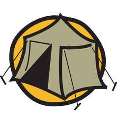 Camping tent logo vector image